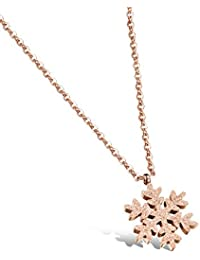 レディースネックレス ステンレス 雪花 ペンダント 雪の結晶 クリスマス プレゼント ギフト誕生日 記念日