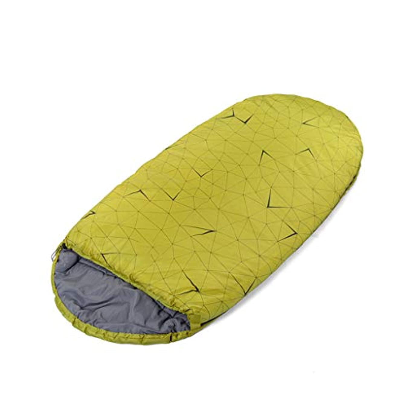 旋律的ポーク体LCSHAN 寝袋ポリエステル厚い防水多機能屋外キャンプ成人 (色 : Green)