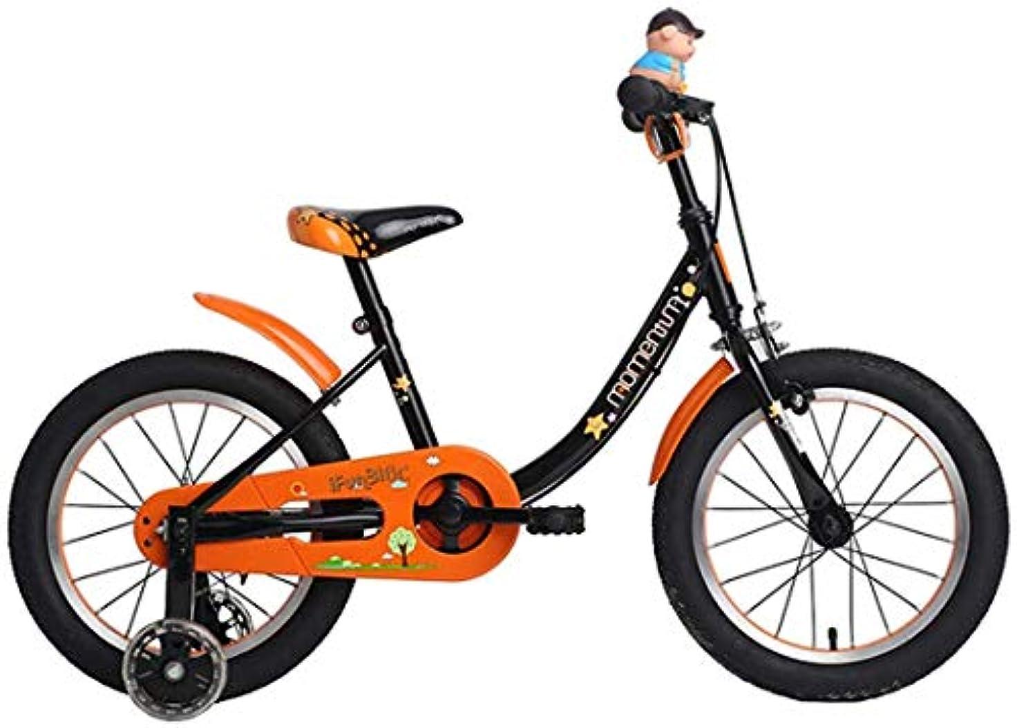 インキュバス社会主義入植者子供の安全バイク取り外し可能なトレーニングホイール16インチ95-125 cmの自転車高炭素鋼フレーム