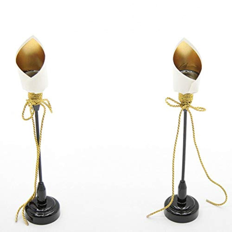 アウトレット品 雛人形お道具単品 高さ30cm【it-1115】燭台(油灯)単品 木製黒塗り