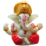 "Satre Online And Marketing 2.6"" Small Ganesha Statue/Mini Lord Ganesh/Ganpati Polyresin Idol / (Red)"
