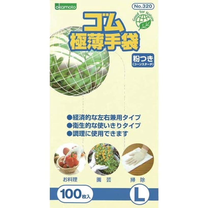 ヒントスパイ形式オカモト ゴム手袋 粉付き (L)