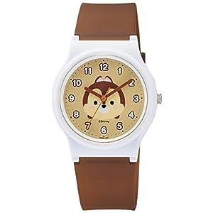 [シチズン キューアンドキュー]CITIZEN Q&Q 腕時計 Disney コレクション 『 TSUMTSUM 』 『 チップ 』 ウレタンベルト ブラウン HW00-005 ガールズ