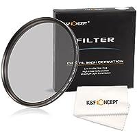 PLフィルター 67mm、K&F Concept 偏光フィルター 67mm サーキュラーpl 超薄型 カメラ用フィルター 反射除去用 Canon 7D 700D 600D 70D 60D 650D 550D Nikon D7100 D80 D90 D7000 D5200 D3200 D5100 D5300デジタル一眼レフカメラ専用+クリーニングクロス