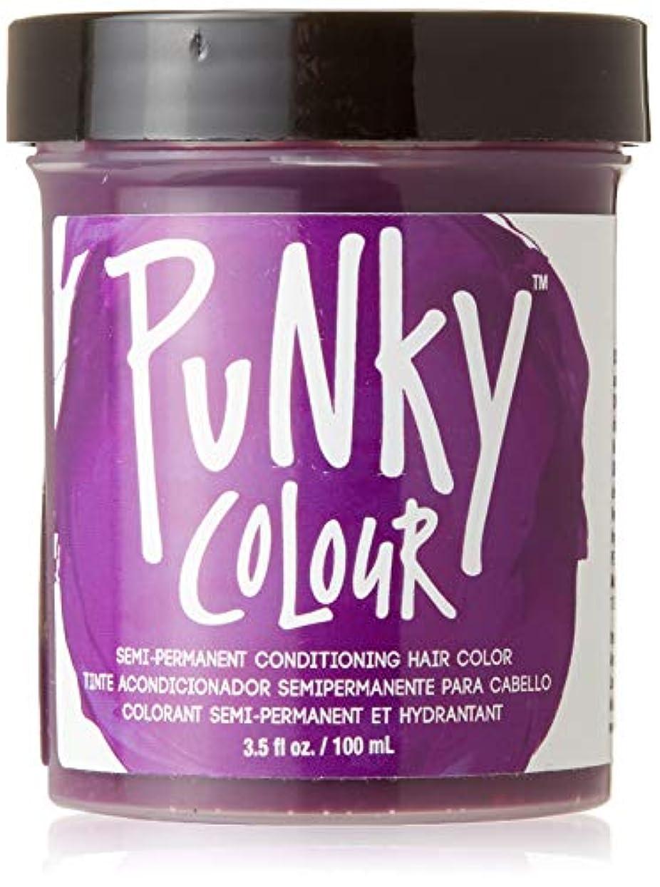 リング盲信仕出しますJEROME RUSSELL Punky Color Semi-Permanent Conditioning Hair Color - Purple (並行輸入品)