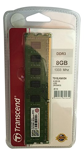 Transcend デスクトップPC用メモリ PC3-10600 DDR3 1333 8GB 1.5V 240pin DIMM  無期限保証  TS1GLK64V3H