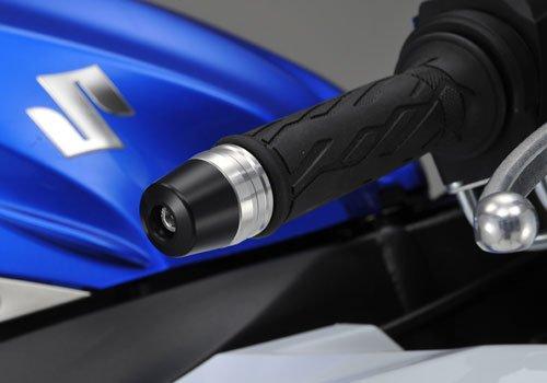 アグラス(AGRAS) バーエンド 外径 φ32 ツーピースタイプ ベース:ブルー/エンド:ブラック GSX-R1000(05-10) GSX-R750(06-09/11-12) GSX-R600(06-09/11-12) 301-384-000BB