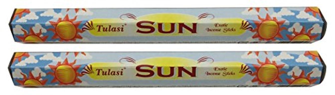素晴らしさ優雅な円形TULASI サラチ STICKS お香 40本入り SUN サン 640189-2