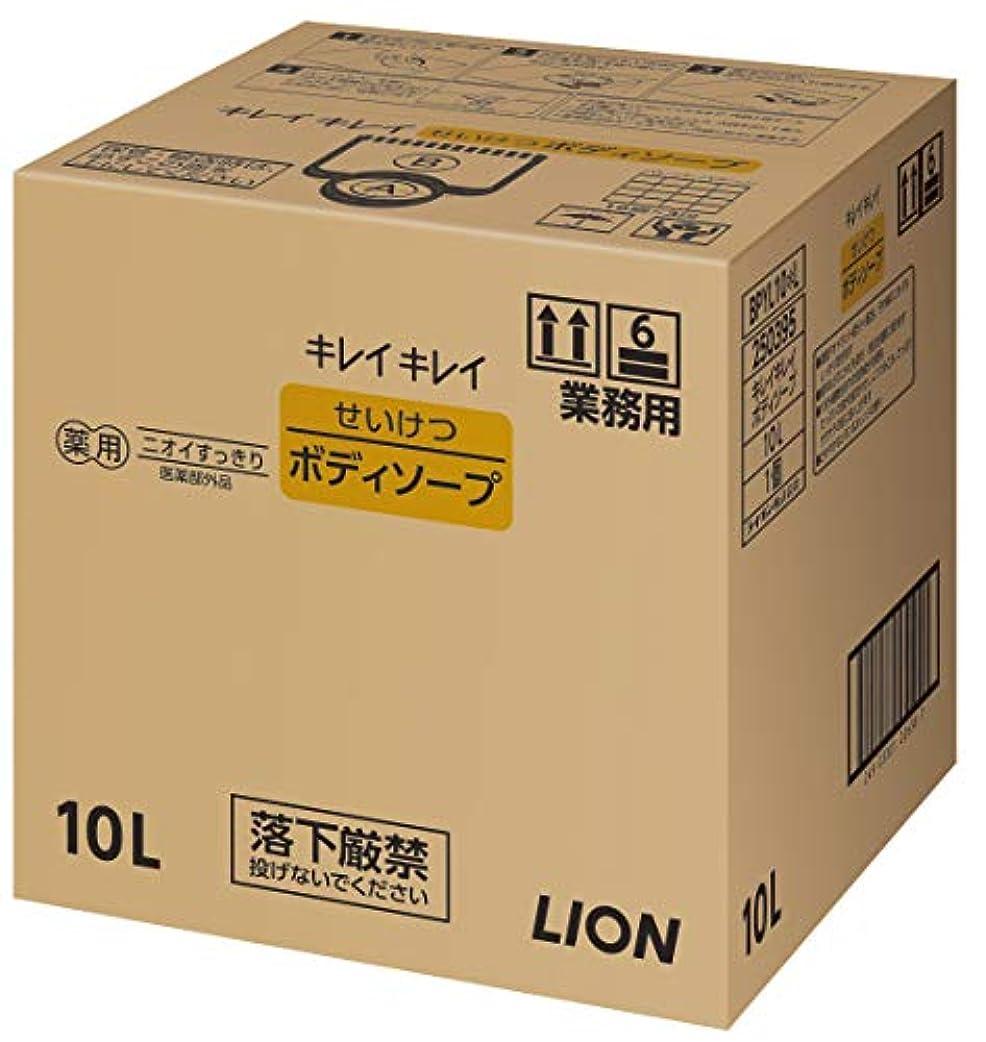 担当者計算するタンザニアキレイキレイ せいけつボディソープ さわやかなレモン&オレンジの香り 業務用 10L