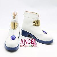 【サイズ選択可】女性24CM B1C00725 コスプレ靴 ブーツ 魔法少女リリカルなのは 高町なのは
