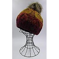 ドイツ発(MOSHIKI BRAND):レディース POMPOM付きビーニー型ニット帽子:VARAHAR