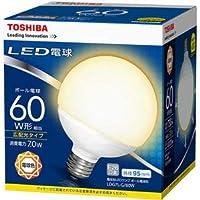 (まとめ)東芝ライテック LED電球 ボール電球形60W形相当 7.0W E26 電球色 LDG7L-G/60W 1個【×3セット】