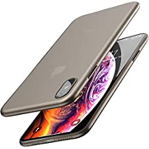 TOZO for iPhone Xs Max Case 6.5 Inch (2018) Ultra-Thin Hard Cover Full Body Slim Fit Shell [0.35mm] World's Thinnest Protect Bumper for iPhone 10s Mas / Xs Max Case 6.5 inch [ Semi-transparent ] Lightweight with Design [Matte Black]
