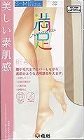満足 美しい素肌感 伝線しにくい ストッキング (S-Mサイズ・バーリー)(段階快適設計・ノンラン・つま先補強・ヒップ立体設計)(日本製 Made in japan) 福助 fukuske MANZOKU レディース