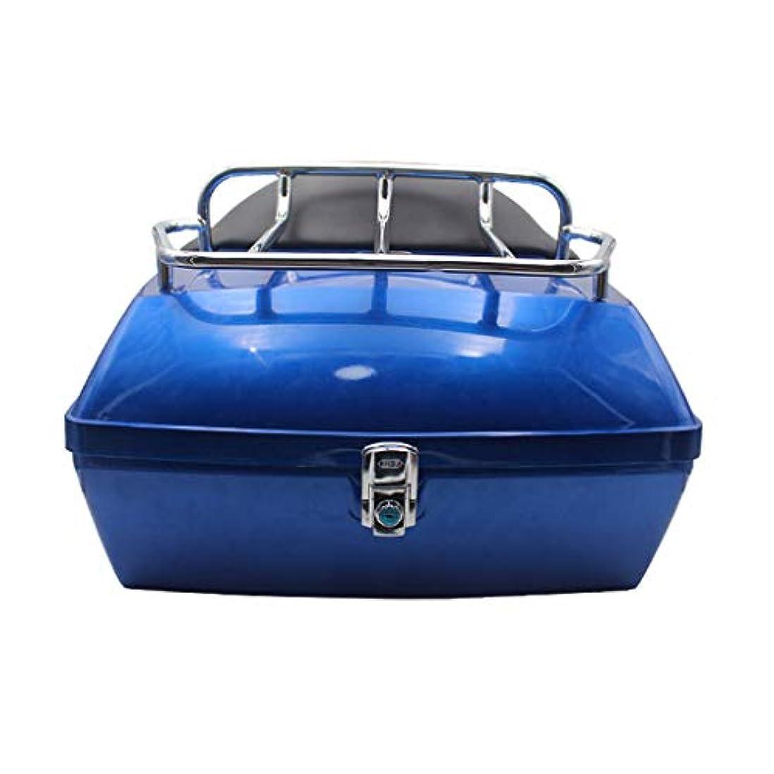 協同フラグラント累計オートバイのテールボックス、棚付き背もたれ付き48 L電気自動車トランク、ユニバーサルバイクトランクヘルメット収納ボックス