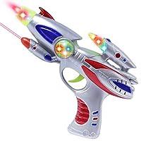 AKOi スーパー宇宙閃光銃 ハンドガン 光線 レーザー 音銃 おもちゃ ボーイズギフト