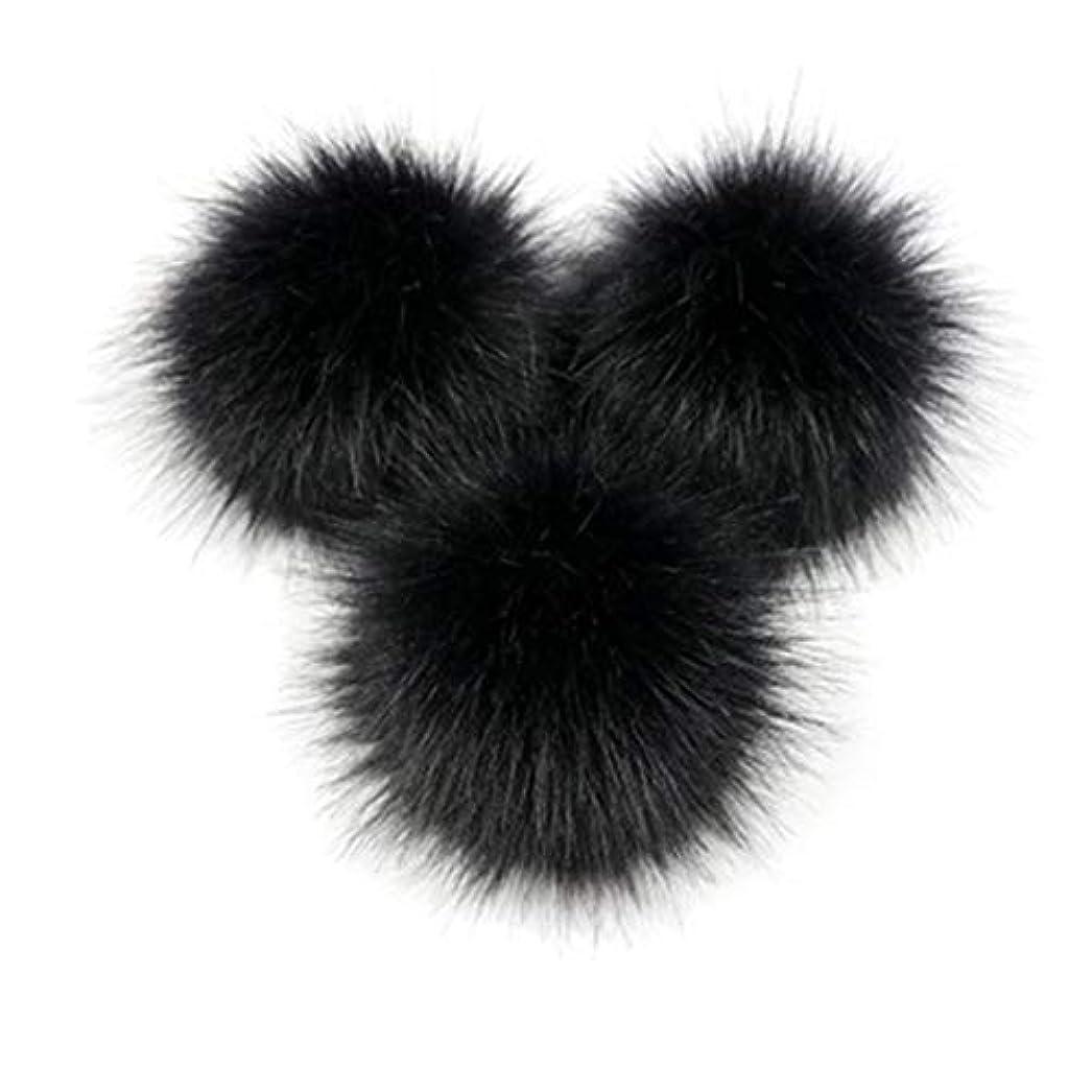 乱闘十一論争の的Kongqiabonaかわいいキツネの毛皮のポンポン取り外し可能な毛皮ふわふわボブルボールでプレスボタン用diy帽子キャップバッグ服靴の装飾