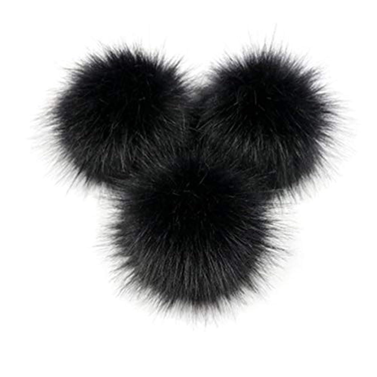 読む他のバンドでかわすKongqiabonaかわいいキツネの毛皮のポンポン取り外し可能な毛皮ふわふわボブルボールでプレスボタン用diy帽子キャップバッグ服靴の装飾