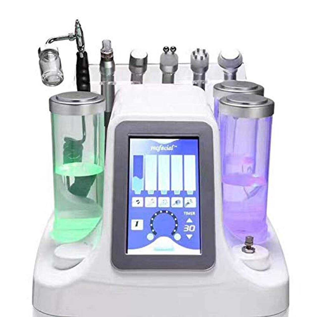 九時四十五分住居困惑した6 in 1 Hydra Dermabrasion Aqua Peel Clean Skin Care BIO Light RF Vacuum Face Cleaning Hydro Water Oxygen Jet Peel Machine