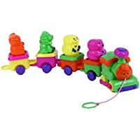 Dazzling Toys Baby's 5 Pce. Train with Removable Animals Riding (D237) [並行輸入品]