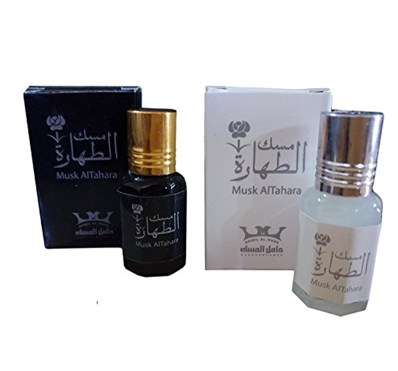 虫彼は人工的なWomen Musk Al tahara Pure Saudi Altahara Perfume White & Black 10 ml Alcohol Free