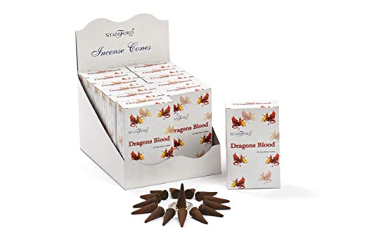 命令的チキン塊Stamford Dragons Blood Incense Cones, 15 Cones x 12 Packs by Stamford