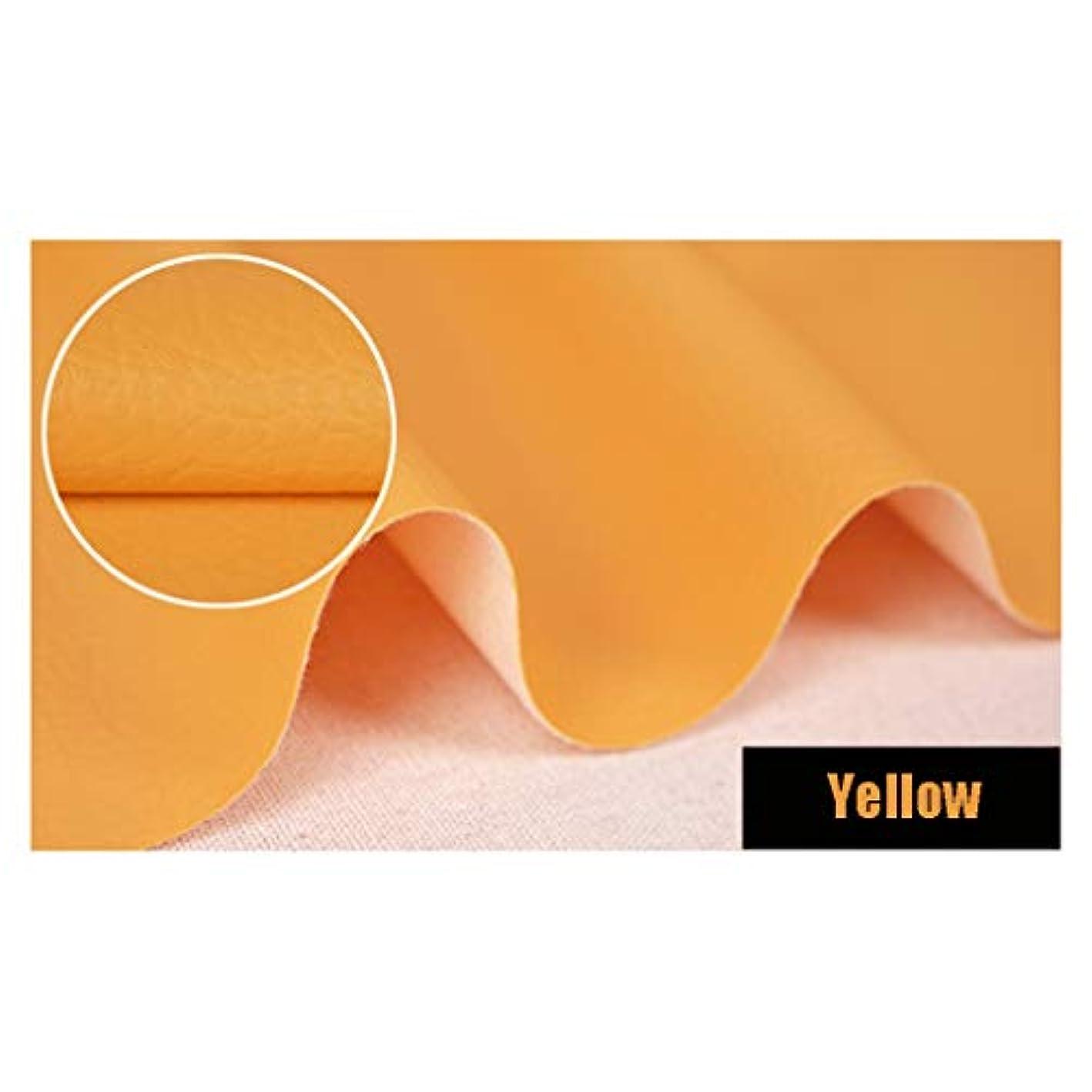 公平転倒バインドWCBING クラフト装飾とDIYのプロジェクトを作る家具ソファチェアバッグ用PU人工レザー布張りのソリッドカラーのファブリック素材の耐摩耗防水防湿、 清潔で汚れにくい (Color : YELLOW, Size : 4.5M*1.4M)