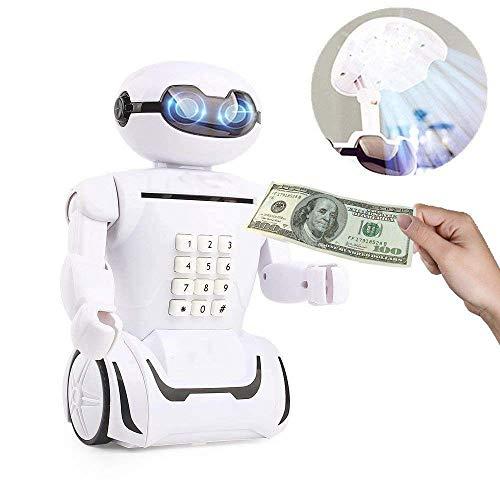 多機能ATMパスワードロボット貯金箱音楽デスクランプ、ポータブル折りたたみ式目保護LEDライトUSB充電