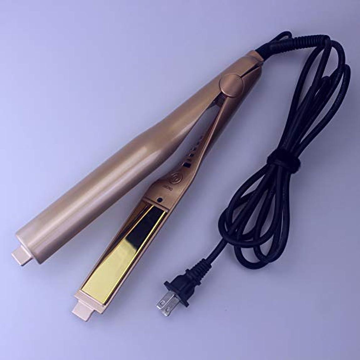 先史時代の転倒イチゴツイストストレートストレートヘアアイロンデュアルユースツーインワン電気カーリングアイロン電気スプリント理髪ツール