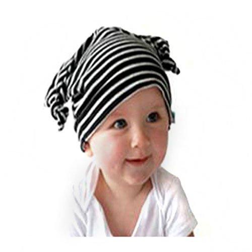 (ベルテンポ)Bel Tempo ベビー フェアリー帽子 イヤーキャップ 009(ブラックボーダー)