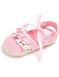 Zhengpin 春夏秋 かわいい 森ガール 花柄 ベビーシューズ 女の子歩行靴