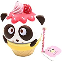cinhentミニキュートアイスクリームPanda Sweet円錐Squeeze Slow Rising Toy Relieve Fun Decor Gift for大人キッズバッグ電話など