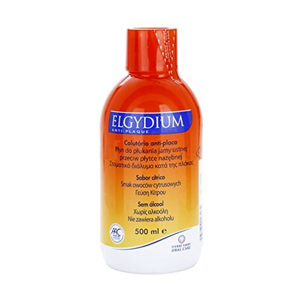タイマー教養がある神聖Elgydium Anti-plaque Mouthwash 500ml [並行輸入品]