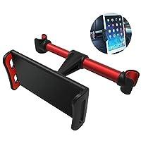 ACHICOO 携帯電話ホールダー 携帯電話ブラケット 自動車携帯電話ブラケット ヘッドレスト 車の後部座席台紙 Apple/iPad/4-11インチ/タブレット用 赤みがかった黒