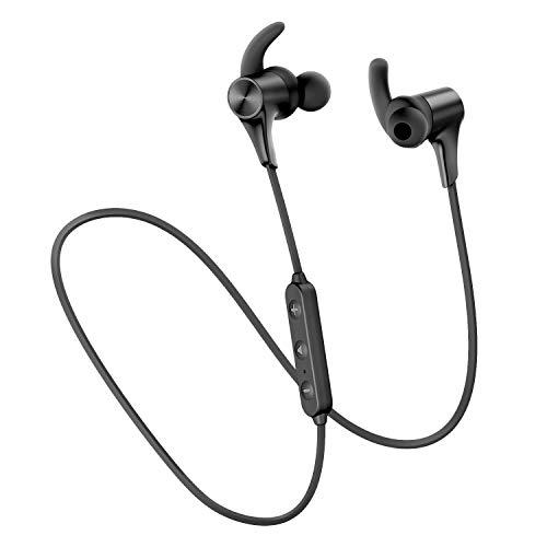 SoundPEATS(サウンドピーツ) Q12HD Bluetooth イヤホン ワイヤレス イヤホン Bluetooth5.0搭載 APTX-HDコーデック対応 高音質・低遅延 ブルートゥース イヤホン 超軽量 14時間連続再生 IPX6防水 人間工学 デザイン Free-bit イヤーフック マグネット内蔵 ネックバンド式 CVC ノイズキャンセリング搭載 ハンズフリー通話 ワイヤレス ヘッドホン iPhone Android対応 [メーカー1年保証] ブラック