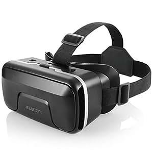 エレコム VRゴーグル VRヘッドセット ピント調整可能 メガネ対応 4.0~6.5インチのiPhone/andoridで使える  ブラック VRG-X01BK