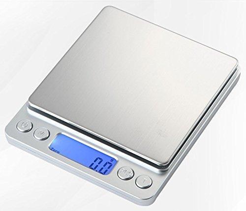 小型 精密 デジタルスケール 電子はかり 0.1g単位 3k...