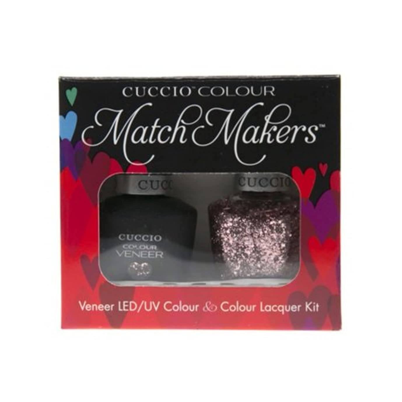 ふさわしい果てしない夕方Cuccio MatchMakers Veneer & Lacquer - Love Potion NO. 9 - 0.43oz / 13ml Each