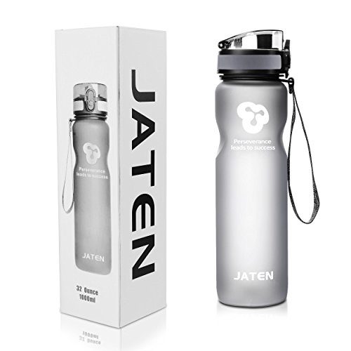 JATENスポーツボトル、ワンタッチオープン、ロック機能付きで...