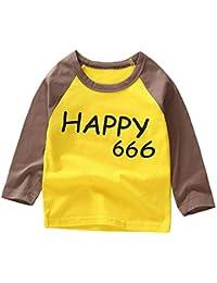 8a35220222653 LYWENQINHG キッズ tシャツ 長袖 男の子 女の子 インナーシャツ フクロウ ラグラン ...
