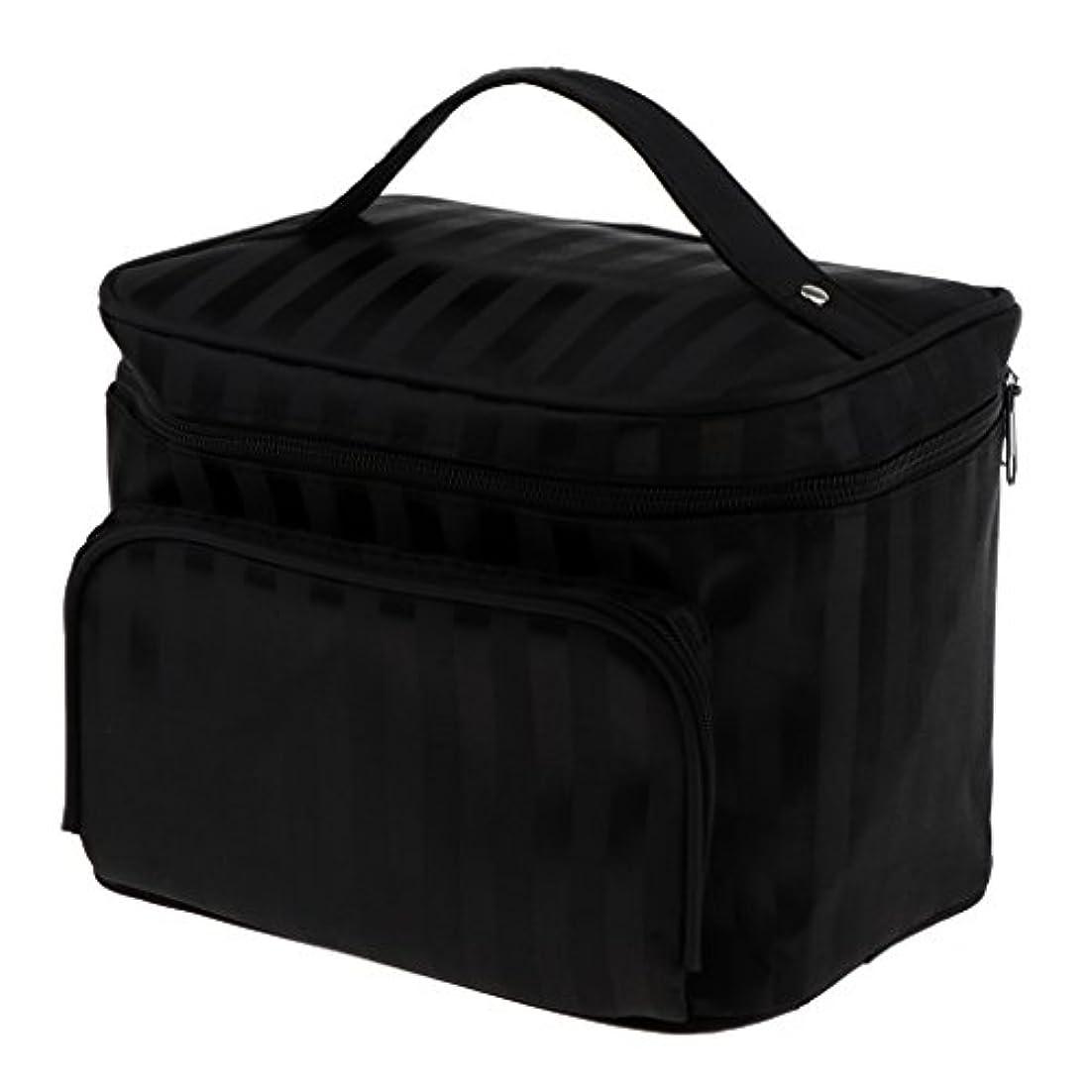 理想的シャイ上院議員Perfk メイクアップバッグ 化粧品バッグ 化粧品 コスメ メイクアップ 収納 防水 耐摩耗 旅行用 バッグ メイクボックス 化粧ポーチ 5色選べる - ブラック