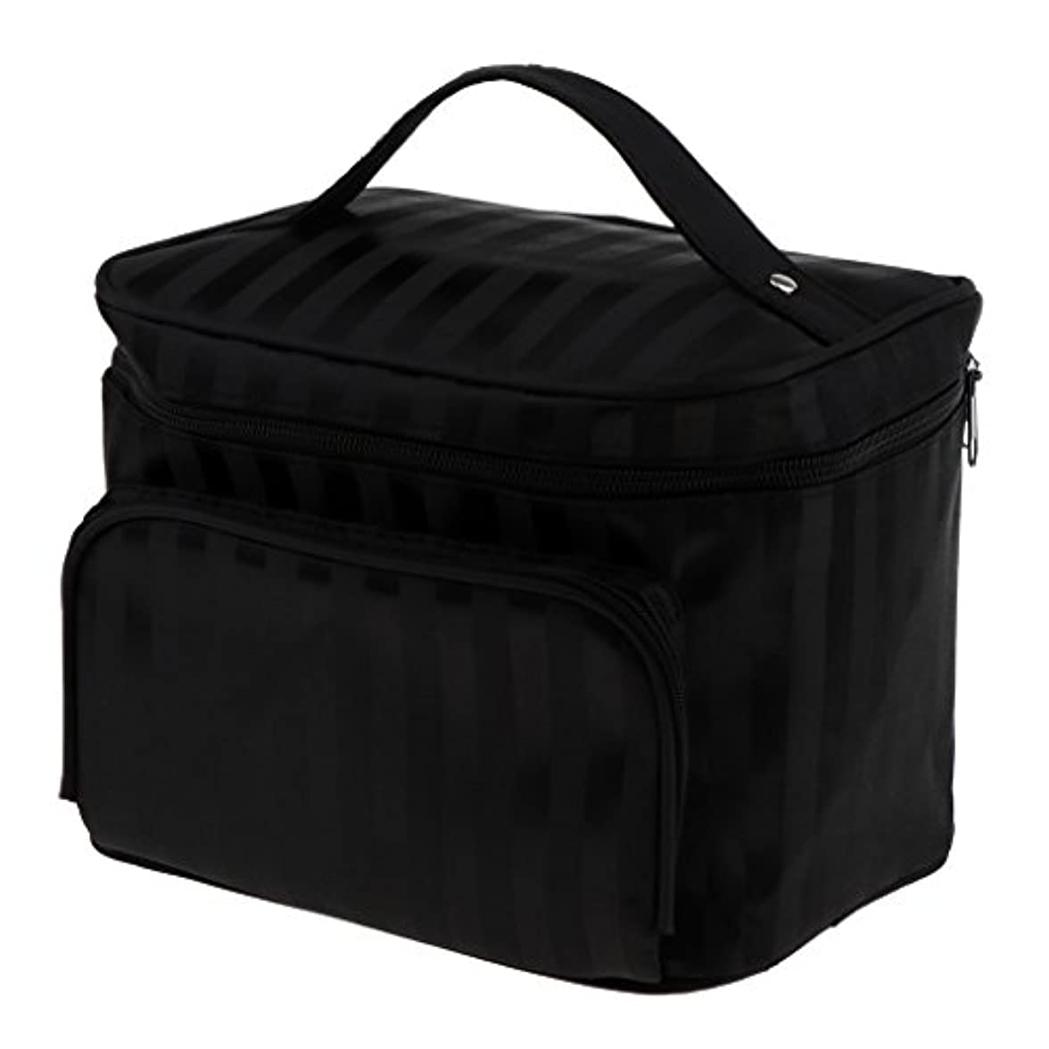 債務操る知るPerfk メイクアップバッグ 化粧品バッグ 化粧品 コスメ メイクアップ 収納 防水 耐摩耗 旅行用 バッグ メイクボックス 化粧ポーチ 5色選べる - ブラック