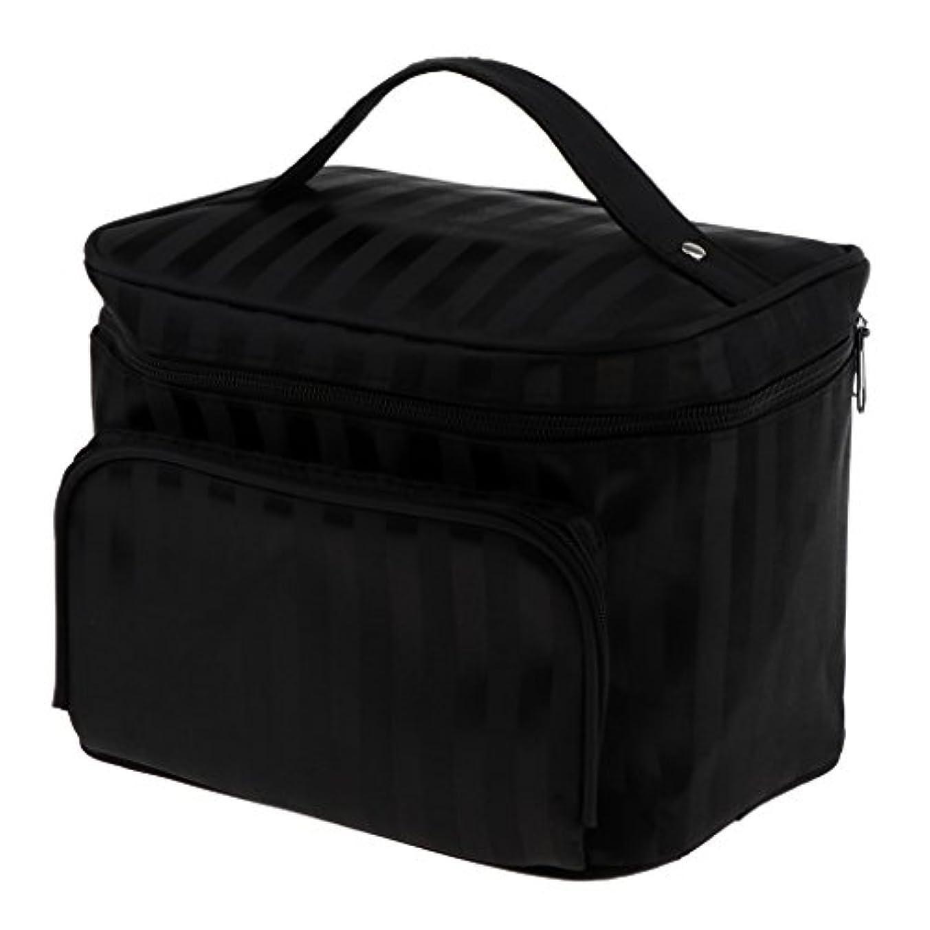 巨大なベッドを作る限られたPerfk メイクアップバッグ 化粧品バッグ 化粧品 コスメ メイクアップ 収納 防水 耐摩耗 旅行用 バッグ メイクボックス 化粧ポーチ 5色選べる - ブラック