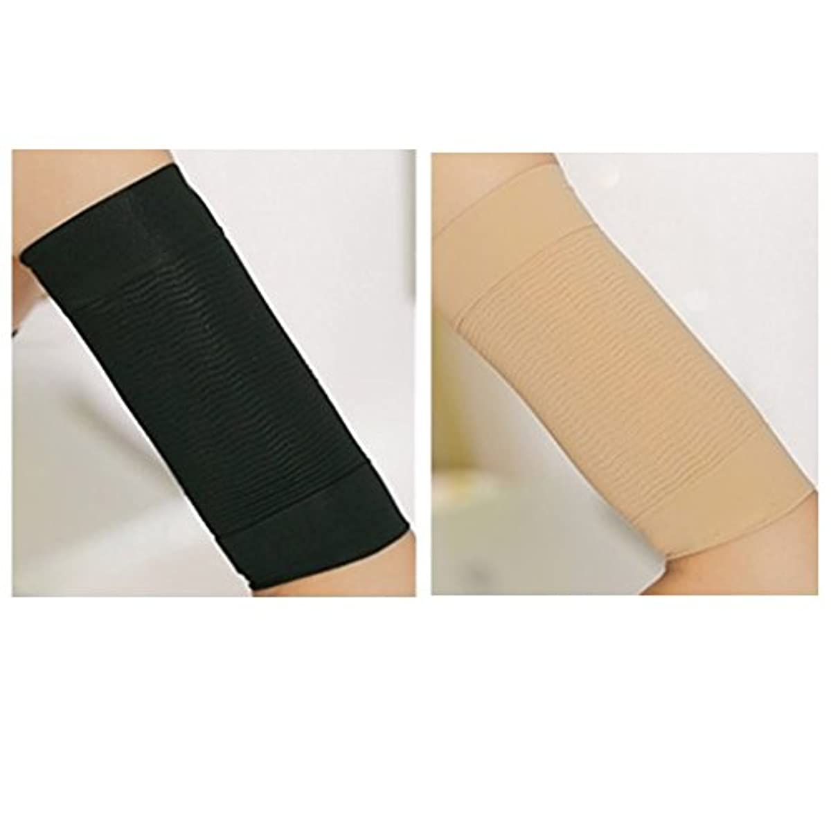 破産ポータル交渉する二の腕シェイパー 二の腕 引き締め 二の腕痩せ ダイエット 二の腕ダイエット インナー シェイプアップ 脂肪燃焼 セルライト 加圧下着 (パッケージ:ブラック2枚,ベージュ2枚)