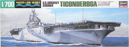 ハセガワ 1/700 アメリカ航空母艦 タイコンデロガ #710