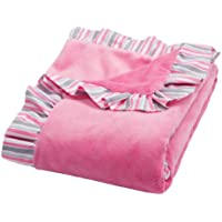 Trend Lab Ruffle Trimmed Receiving Blanket, Pink Lily by Trend Lab