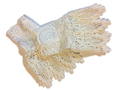 Adamz.sp分層袖口帶袖子的袖穿蕾絲疊穿風格淑女