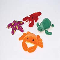 1 Dozen Adorable Plush Colorful Sea Creatures (4-6 inch) /Crabs / Lobsters / Sea Turtles / Starfish / Gift / Ocean Theme / Party / Prize [並行輸入品]