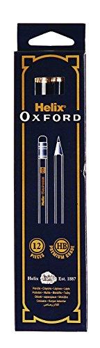英国 Helix Oxford 消しゴム付き鉛筆12本セット(削り済み) 1ダース HB Eraser Tipped Pencils P35010 [並行輸入品]