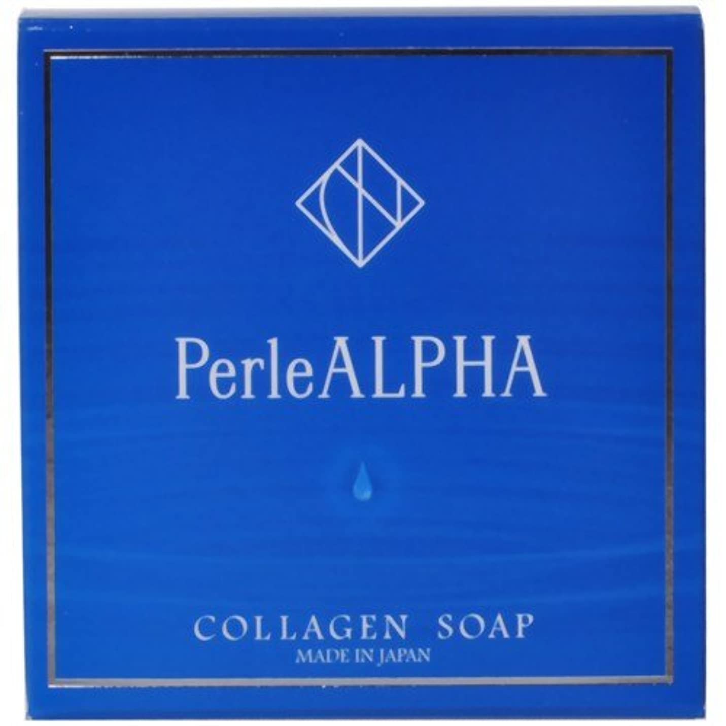 ピクニックをする一元化する煙PerleALPHA(ペルルアルファ) コラーゲンソープ 100g